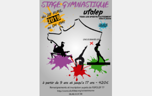 STAGE DE GYMNASTIQUE A RUFFEY